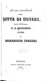 Le cose rimarchevoli della città di Novara: precedute da compendio storico