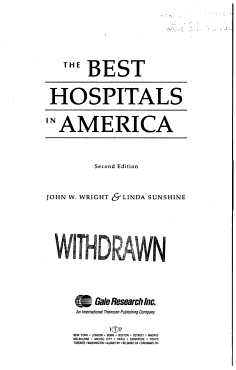 The Best Hospitals in America PDF