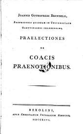 Praelectiones de coacis praenotionibus
