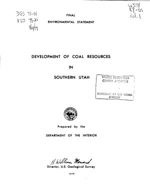 Development of Coal Resources in Southern Utah  Regional analysis PDF
