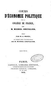 Cours d'économie politique fait au Collège de France: Volume1
