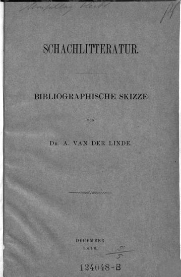 Schachliteratur  Bibliographische Skizze PDF