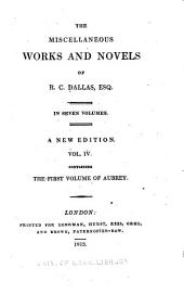 The Miscellaneous Works and Novels of R. C. Dallas: Volume 4