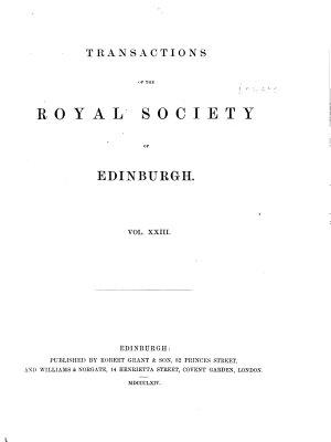 Transactions of the Royal Society of Edinburgh PDF
