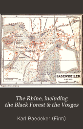 The Rhine: including the Black forest & the Vosges; handbook for travellers