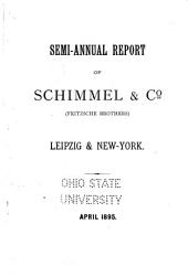 Semi-annual Report of Schimmel & Co. (Fritzsche Brothers)