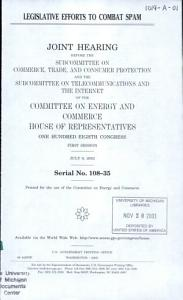 Legislative Efforts to Combat Spam PDF