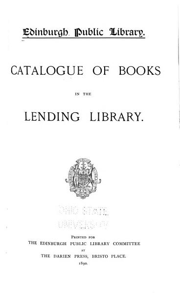 Download Catalogue of Books in the Lending Library Book