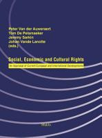 Social  Economic and Cultural Rights PDF