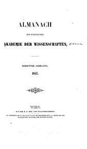 Almanach der kaiserlichen Akademie der Wissenschaften: Band 7
