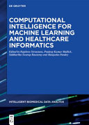 Computational Intelligence for Machine Learning and Healthcare Informatics PDF