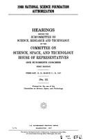 1988 National Science Foundation Authorization PDF