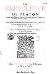 La République de Platon...