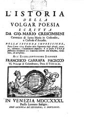Dell'istoria della volgar poesia: Volume 1