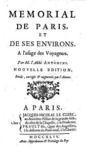 Memorial de Paris, et de ses environs: a l'usage des voyageurs
