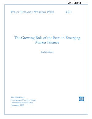The Growing Role of the Euro in Emerging Market Finance