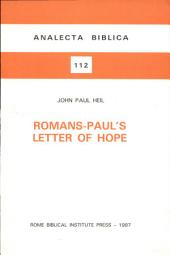 Romans--Paul's Letter of Hope