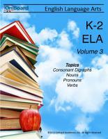 K 2 English Language Arts Volume 3 PDF