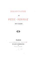Bibliographie du petit-format dit Cazin