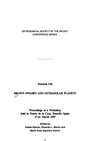 Brown Dwarfs and Extrasolar Planets PDF