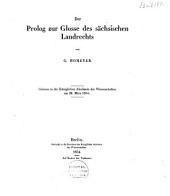 Der Prolog zur Glosse des sächsischen Landrechts