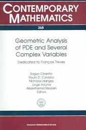 Geometric Analysis of PDE and Several Complex Variables: Dedicated to François Treves