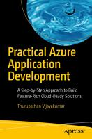 Practical Azure Application Development PDF