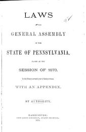 Laws of the General Assembly of the Commonwealth of Pennsylvania