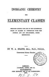 Inorganic chemistry for elementary classes