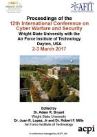 ICCWS 2017 12th International Conference on Cyber Warfare and Security PDF