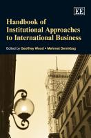 Handbook of Institutional Approaches to International Business PDF