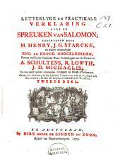 Letterlyke en practikale verklaring over de spreuken van Salomon: Volume 2