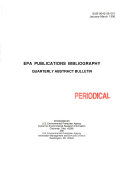 EPA Publications Bibliography PDF