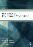 Handbook of Epistemic Cognition PDF