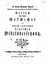 M. G. W. Panzer's Versuch einer kurzen Geschichte der römisch-catholischen deutschen Bibelübersetzung