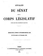 Annales du Sénat et du Corps législatif: Volume1