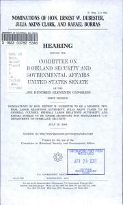 Nominations of Hon  Ernest W  DuBester  Julia Akins Clark  and Rafael Borras PDF