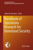 Handbook of Operations Research for Homeland Security PDF