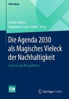 Die Agenda 2030 als Magisches Vieleck der Nachhaltigkeit PDF