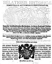 Relatio historica: Jacobi Franci historische Beschreibung der denckwürdigsten Geschichten .... 1746