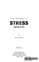 The Answer to Stress PDF