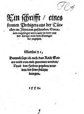 Ein schrifft, eines fromen Predigers aus der Türckey an Illyricum geschrieben: darinnen angezeiget wird, wie es dort mit der Kirche und dem Evangelio zugehet ...