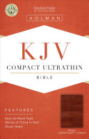KJV Compact Ultrathin Reference Bible  Brown Cross Leathertouch  Indexed PDF