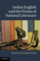 Indian English and the Fiction of National Literature PDF