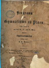 Programm des Königlichen Gymnasiums zu Ploen: Ostern .... 1873/74