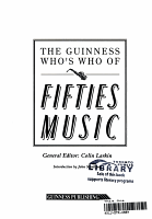 The Guinness Who s who of Fifties Music PDF