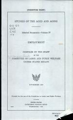 Studies of the Aged and Aging: and Suppl. Employment. 2 v