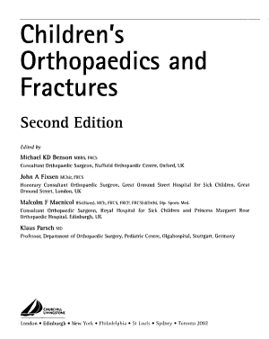 Children s Orthopaedics and Fractures PDF