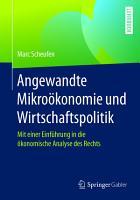 Angewandte Mikro  konomie und Wirtschaftspolitik PDF