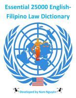 Essential 25000 English Filipino Law Dictionary PDF